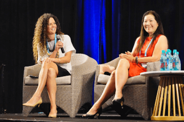Amy Brinker of Kamehameha Schools and Lorraine Akiba of LHA Ventures