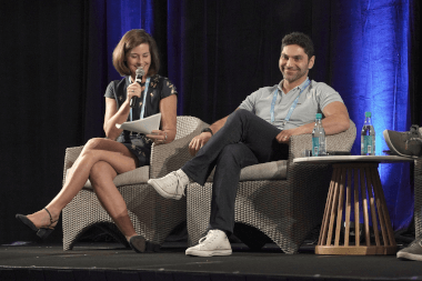 Chenoa Farnsworth of Blue Startups and Wissam Otaky of Hatcher+